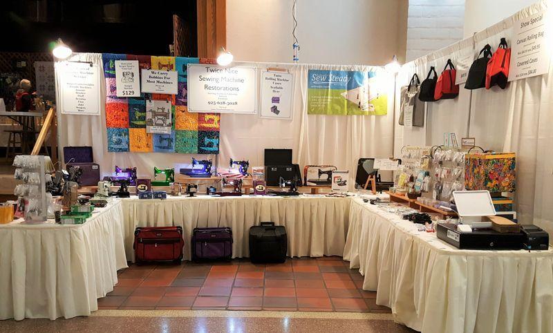 Sewing machines at display