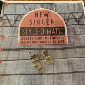 Sewing attachments on a style book