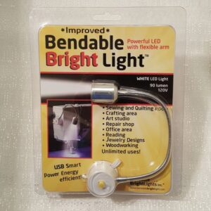 A bendable bright light for sewing