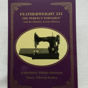 A sewing machine history book