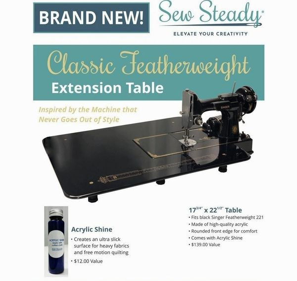 A Classic Featherweight Extension Table