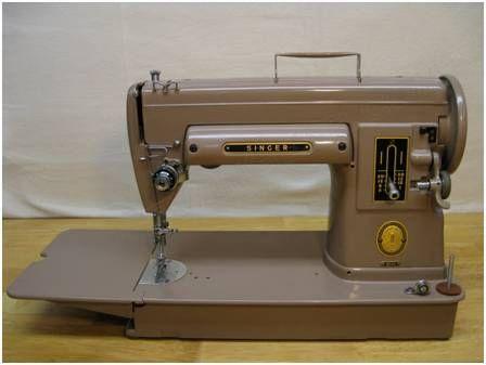 A brown sewing machine
