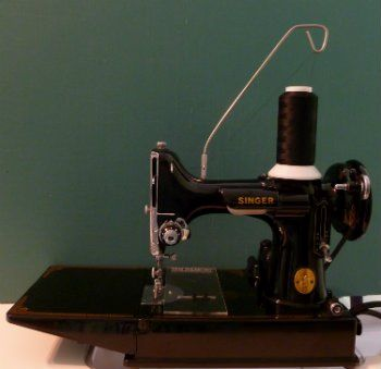 A thread stand used on a sewing machine